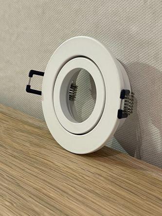 Round tilt white